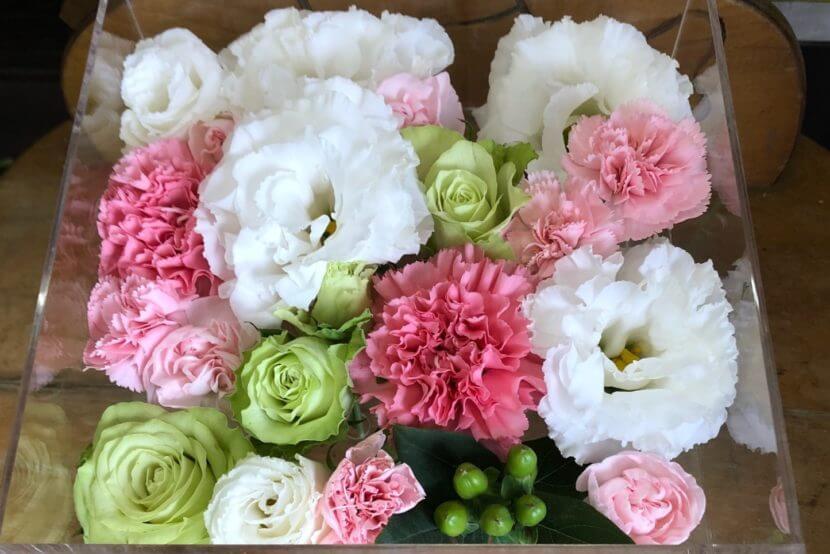 ペット火葬プランで使用のお別れの花々